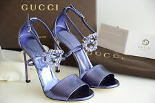 $720 NEW 2015 GUCCI HIGH HEELS SANDALS SHOES Open Toe Size 37 38
