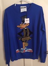 $895 Moschino Couture Jeremy Scott Daffy Duck Wool Pullover sweater Looney Tunes
