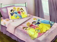 BRAND NEW OFFICIAL DISNEY PRINCESSES 4 PIECES TWIN BED COMFORTER SET