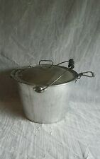 Vintage WEAR EVER 8 Quart Pot With Handle Easy Pour Lid Great For Camping