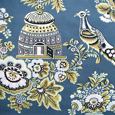 """AMY BUTLER """"BELLE"""" ROYAL GARDEN Turquoise by yard"""