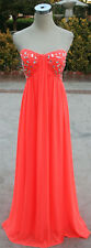 NWT MORGAN & CO $200 NEON CORAL Formal Ball Prom Gown 7
