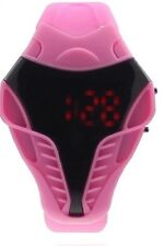 UK SELLER: Pink Kids Digital LED Wrist Watch For Men & Boys Silicone Strap