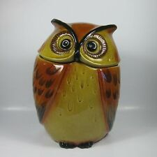 Metlox Poppytrail Large Owl Cookie Jar California USA Vintage Retro