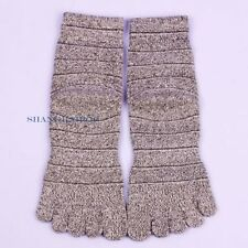 3 Pairs Men Ankle Socks Five Finger Toe Warm Winter Casual Cotton Random Color