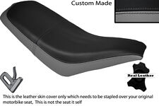 BLACK & GREY CUSTOM FITS KAZUMA FALCON 110 150 250 ATV QUAD LEATHER SEAT COVER