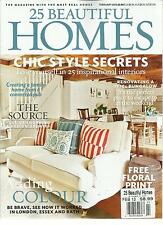 25 BEAUTIFUL HOMES, FEBRUARY, 2013  ( THE MAGAZINE WITH MOST REAL HOMES )