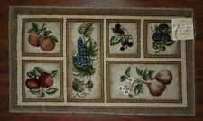 20X34 Kitchen Rug Mat Beige Tan Washable Fresh Fruit Grapes Pears Apples Peach