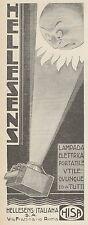 Z3293 Lampada elettrica portatile HELLESENS - Pubblicità d'epoca - 1930 Old ad