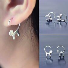 Cute Gift Cat Earrings Ear Studs Silver Plated Jewelry