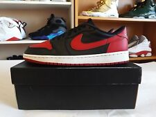 Nike Air Jordan 1 OG low Retro Bred Chicago banned Classic size 10 Black Red