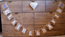 Personalised Vintage Style Wedding Bunting Name Banner Party Venue Decoration