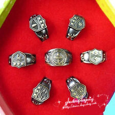 7pcs Hitman Reborn Vongola cosplay rings set with box