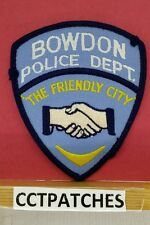RARE BOWDAN, GEORGIA POLICE DEPARTMENT THE FRIENDLY CITY SHOULDER PATCH GA