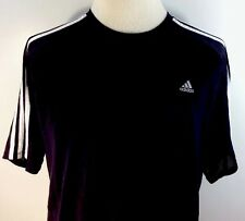 Adidas Work Out Shirt Black Men's XL 100% Polyester Sports Athletic Mesh Top