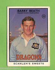 #D200. 1968 SERIES 2 SCANLENS RUGBY LEAGUE CARD #20  BARRY BEATH, DRAGONS