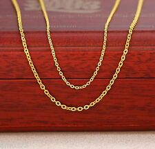 PERFECT 999 24K Yellow Gold Necklace Women's Bless O Chain / 2g
