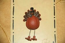 """BLOSSOM BUCKET """"COMICAL"""" TURKEY THANKSGIVING OR FALL PIN"""