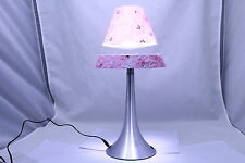 Hot New Item - Levitating/Floating Lamp - Floral Pattern Pink Shade and Base