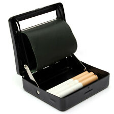 Automatic Rolling Machine Cigarettes Tobacco Smoking Tin Box Case Roller Black