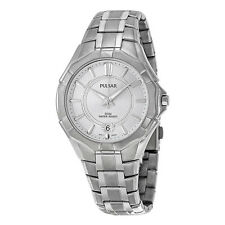 Pulsar 3-Hand Silver Dial Stainless Steel Mens Watch PS9097