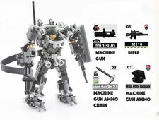 Lego MOC Custom Heavy Armour Exo Suit Full weaponry Base Big Figure Combat Mech
