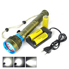 21000Lm 7xXM-L2 LED Scuba Diving Flashlight 3x26650 Torch Underwater 200M lamp