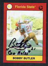 Bobby Butler signed autograph auto 1991 Florida State Collegiate Collection Card