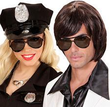 Macho Retro Brille Polizeibrille  NEU - Zubehör Accessoire Karneval Fasching
