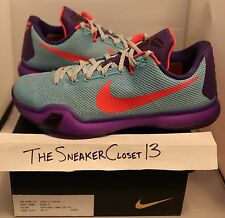 Kobe 10 EYBL sz 8.5 peach jam sample pe 1 2 3 4 6 7 8 11 kay yow big stage htm x