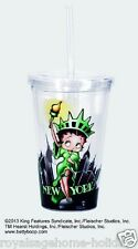 16199 Betty Boop New York Statue of Lady Liberty Insulated travel Cup w/straw