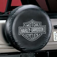"Universal Gray Harley Davidson Spare Tire Cover Wheel 27"" - 31"" New Free Ship"
