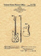 "Patent Print - Fender ""The Classic"" Precision Bass - Art Print. Ready To Frame!"