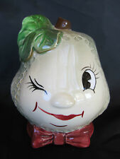 PY Vintage Anthropomorphic Pear Fruit Face Planter, Napco, Coronet, Excellent