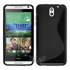 Soft Rubber TPU Gel Silicone Case Skin Cover For HTC Desire 610