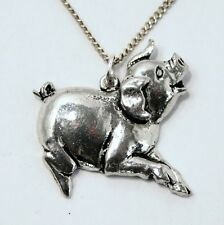 Pig Lovers Necklace in Fine English Pewter, Handmade, Gift Boxed (TS)