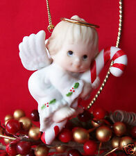 Enesco Ruth Morehead Holly Babes Flying Angel on Candy Cane Ornament So Sweet