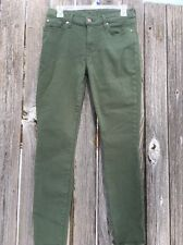 7 For All Mankind Women's Skinny Jeans Olive Size 27