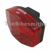 PB Grateful Red 28 Bike LED Flashing Tail Light Reflective Lens Rack Seat Mount