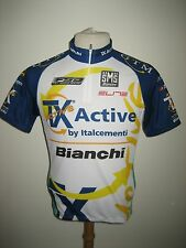 TX Active Bianchi MTB Italy Santini jersey shirt cycling maglia ciclismo size M