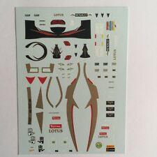 DECALS KIT 1/18 FIGURA + HELMET KIMI RAIKKONEN LOTUS F1 2012 WITH JAMES HUNT