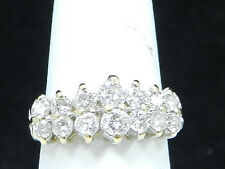 Cardow Classic 14k Yellow Gold  1.00ct Diamond Cluster Ladies Cocktail Ring