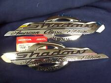 SHADOW AMERICAN CLASSIC EDITION HONDA GAS TANK Emblem Decal CHROME plastic