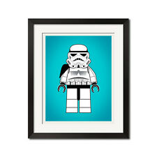 Lego Star Wars Minifig Stormtrooper Poster Print