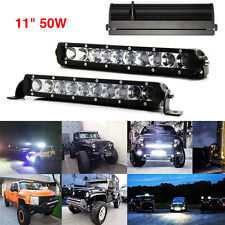 Cree 11inch 50W LED Bar Light Spot Slim Work Offroad Lamp Boat 12V 24V 4wd ATV