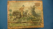 Antique Victorian Lithograph Wood Block Puzzle horse animal Scenes Orig Box game