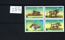 2000 WWF Stamps Djibouti Wild Animal Set of 4 Stamps Topical MNH New