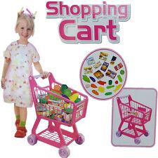 Kids rose supermarché chariot avec fruits légumes panier jouets cadeau de noël