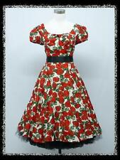 dress190 Rot KARIERTEN 50er ROCKABILLY PARTY PROM KLEID VINTAGE SWING Größe 46