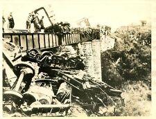 KK812 RP 1936 MEXICO RAILROAD WRECK REBELS BLOW UP VERA CRUZ MEXICO CITY TRAIN